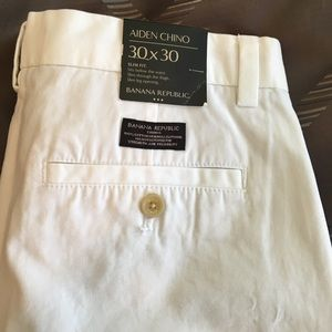 Banana republic white chino